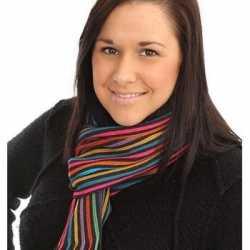 Gestreepte sjaal gekleurd