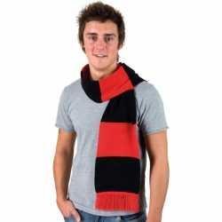 Gestreepte sjaal rood zwart