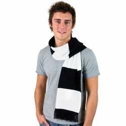 Gestreepte sjaal zwart wit