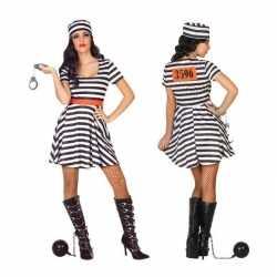 Gevangene/boef bonnie verkleed kostuum/jurk dames