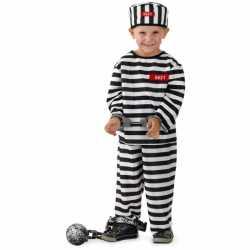 Gevangene kostuum jongens