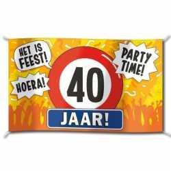 Gevelvlag verjaardag 40 jaar 100 bij 150