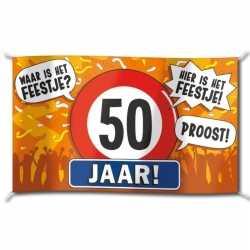 Gevelvlag verjaardag 50 jaar 100 bij 150