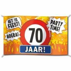 Gevelvlag verjaardag 70 jaar 100 bij 150
