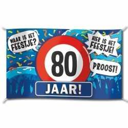 Gevelvlag verjaardag 80 jaar 100 bij 150