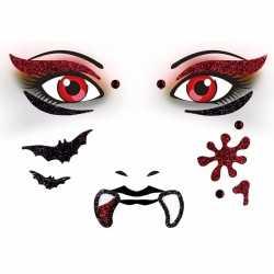 Gezicht stickers vampier 1 vel