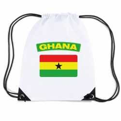 Ghana nylon rugzak wit ghanese vlag
