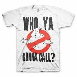 Ghostbuster t-shirt heren wit