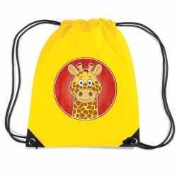 Giraffe rugtas / gymtas geel kinderen