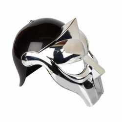 Gladiator helm zwart/zilver