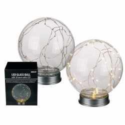 Glazen bol 30 lampjes