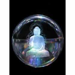 Glazen bol kristal boeddha 10
