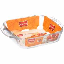 Glazen lasagneschaal vierkant 24 bij 24