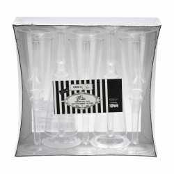 Glazen transparante voet 10 stuks