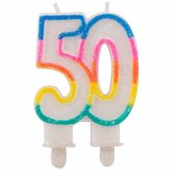 Glitter kaars 50 jaar