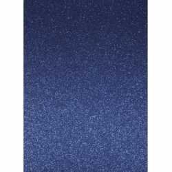 Glitterend blauw hobby karton A4