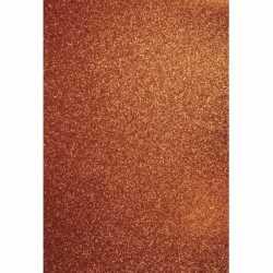 Glitterend oranje hobby karton A4