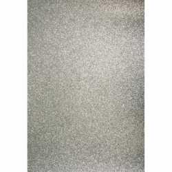 Glitterend zilver hobby karton A4
