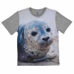 Grijs t shirt zeehond kinderen