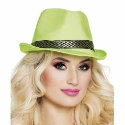 Groene trilby hoed volwassenen