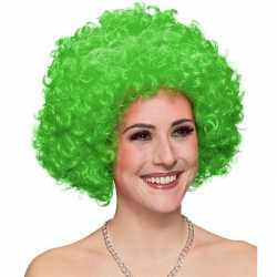 Grote groene clown pruik volwassenen