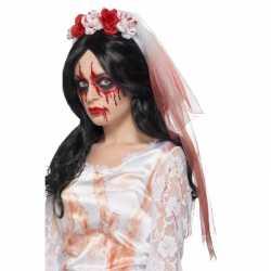 Haarband bebloede sluier rozen