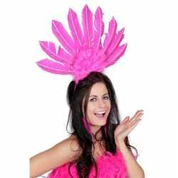 Haarband roze veren dames