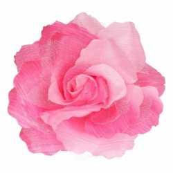 Haarbloem klem roze