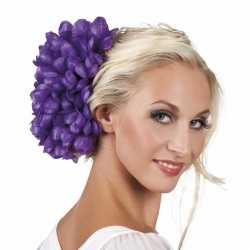 Haarbloem paarse dahlia clip