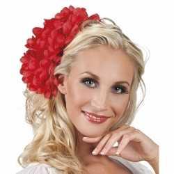 Haarbloem rode dahlia clip