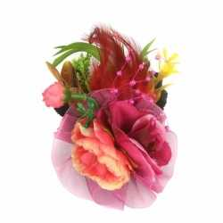 Haarbloemen fuchsia roze klem