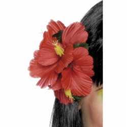 Haarclip hawaii rode bloemen