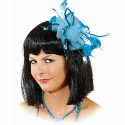 Haarsieraad blauwe bloem
