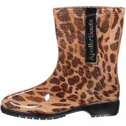 Halfhoge dames regenlaarzen luipaardprint