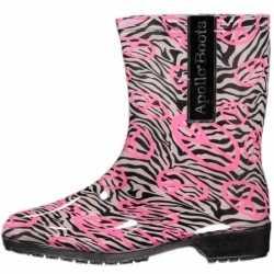 Halfhoge dames regenlaarzen zebra maat 37