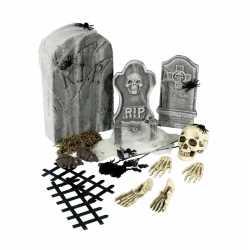 Halloween 24-delige kerkhof set grafstenen