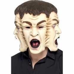 Halloween 3 gezichten masker heren