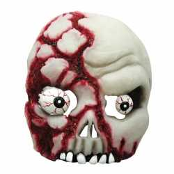 Halloween Bloederig half schedel masker