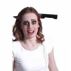 Halloween bloederig horror mes door het hoofd haarband