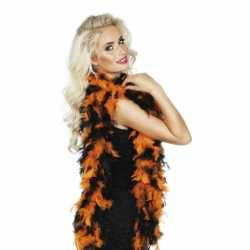 Halloween Boa oranje/zwart 180