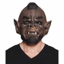 Halloween bruin ork/goblin halloween masker van latex