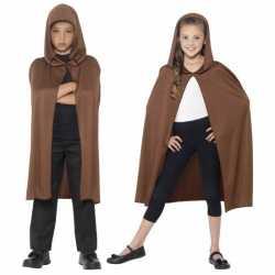Halloween Bruine cape capuchon kinderen