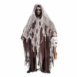 Halloween bruine verkleed cape capuchon