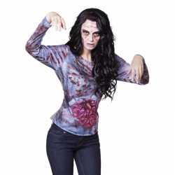 Halloween dames shirt zombie ingewanden