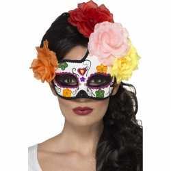 Halloween day of the dead oogmasker bloemen