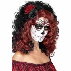 Halloween Day of the dead pruik roos