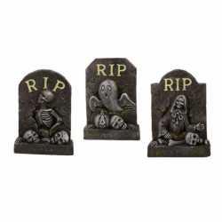 Halloween Decoratie mini grafsteen rip