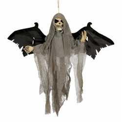 Halloween decoratie skelet pop vleugels licht geluid 45