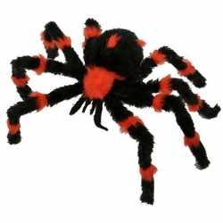 Halloween Decoratie spin zwart oranje 60