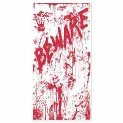 Halloween deurposter bloed